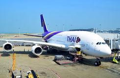 Thai Airways A380 imagem de stock