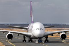Thai Airways Airbus A380 foto de archivo