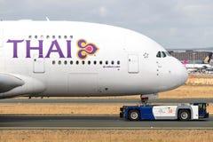 Thai Airways Airbus A380 foto de archivo libre de regalías