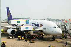 Thai Airways Airbus A380 Royalty Free Stock Photography