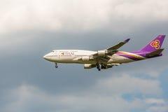 Thai Airways Boeing 747 Lizenzfreie Stockfotos