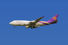 Thai Airways Boeing 747 Royaltyfri Bild