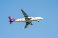 Thai Airways -vliegtuig Royalty-vrije Stock Afbeelding