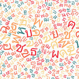 Thai alphabet texture background Stock Photos