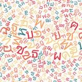 Thai alphabet texture background Stock Photos
