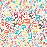 Thai alphabet texture background Royalty Free Stock Photos
