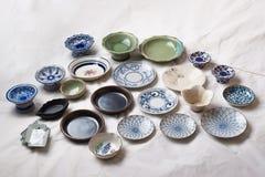 Thai ancient Bowls royalty free stock image