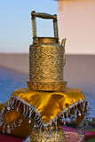 Thai ancient brass kettle. Royalty Free Stock Photos