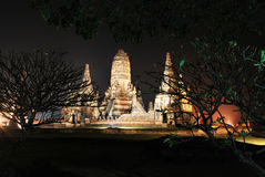 Thai Ancient Building. Wat Chai Wattanaram is Thai Ancient Building at Ayutthaya, Thailand. Histrorical Architecture Stock Photo