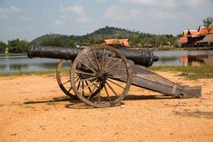 Thai ancient cannon. Stock Image