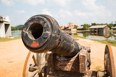 Thai ancient cannon. Royalty Free Stock Photos
