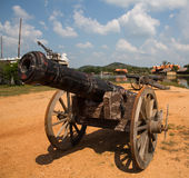 Thai ancient cannon. Royalty Free Stock Image