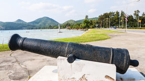 Thai ancient cannon Stock Photography