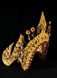 Thai ancient crown. The ancient style crown for Thai dancing/drama actress Royalty Free Stock Image