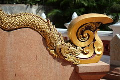 Thai ancient dragon statue Stock Image