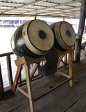 Thai ancient drums Royalty Free Stock Photography