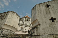 Thai ancient fortress wall Stock Photo