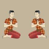 Thai  ancient men Stock Photos