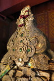 Thai Ancient Pediment Stock Photo