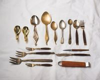 Thai ancient Spoons royalty free stock photography