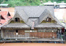 Thai Ancient Style Floating House Stock Photo