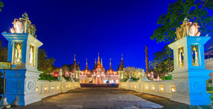 Thai ancient style of the hotel Royalty Free Stock Images