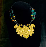 Thai ancient style necklace Stock Images