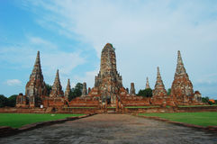 Thai ancient temple in Ayuthaya. The old capital city of Thailand (around 500 years ago Royalty Free Stock Image