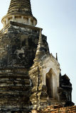 Thai ancient temples. Temples and pagodas in Ayutthaia, ancient capital of Thai kingdoms, near Bagkok Stock Image