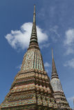 Thai ancient two Pagodas Royalty Free Stock Photo