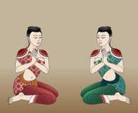 Thai  ancient women Stock Photo