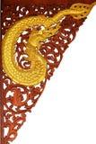 Thai ancient wooden carve art Stock Photos