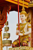 Thai angel sculpture. In royal cremation ceremony Stock Photos