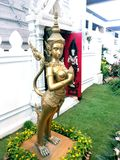 Thai angel sculpture Royalty Free Stock Photos