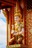 Thai angel statue in temple Royalty Free Stock Images