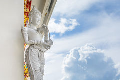 Thai Angel Statues In The Temple. Thai Angel Statues of Wat Phra That Su Thon Mongkhon Khiri in Phrae, Thailand Stock Photo