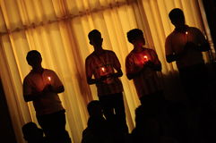 The Thai Animism light the candle royalty free stock photography
