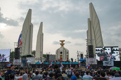 Thai anti-government protests at Democracy Monument Stock Image