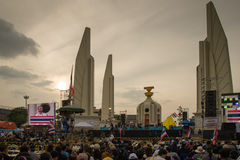 Thai anti-government protests at Democracy Monument Royalty Free Stock Photos