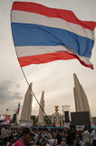 Thai anti-government protests at Democracy Monument Stock Photos