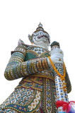 Thai antique giant on wat arun Stock Image