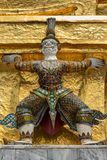 Thai antique sculpture, giant sculpture from Ramayana epic poem at Wat Phra Keaw, temple of the emerald Buddha, Bangkok stock photos