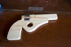 Toy gun. Thai antique wooden toy gun Royalty Free Stock Photo