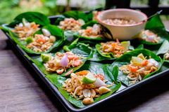 Thai appetizer called Miang Kham Royalty Free Stock Image