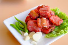 Thai appetizer, fried pork ribs Royalty Free Stock Photography