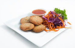 Thai appetizer, Spicy fried fish cake (Tod Mun Pla) Stock Photos