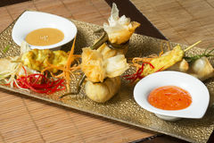 Thai appetizers on a plate Royalty Free Stock Photo