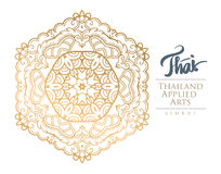 Thai applied arts. A luxury for a card key tasks and exhibitions such as bookbinding , interiors , Royalty, Boutique, Cafe, Hotel, Heraldic, jewelry, and used Royalty Free Stock Photography
