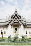Thai architechture in temple of thailand Royalty Free Stock Image