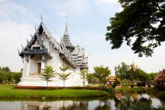 Thai architechture in temple of thailand Stock Image